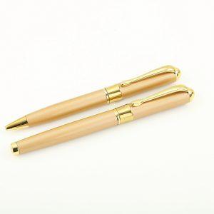 02 1 300x300 - خودکار و روان نویس تمام طلایی بدنه فلزی کد 328