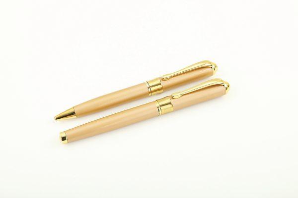 02 1 600x400 - خودکار و روان نویس تمام طلایی بدنه فلزی کد 328