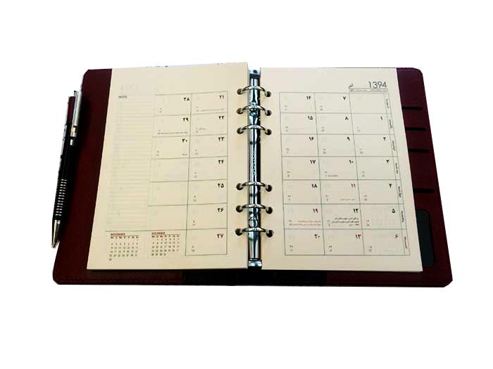 یک ماه در دو صفحه - نکات سفارش سررسید یا سالنامه