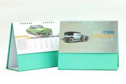 تقویم رومیزی سلفونی ماشین پایه سبز مدل 702