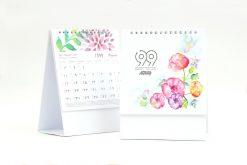 تقویم رومیزی سلفونی گل پایه سفید مدل 705