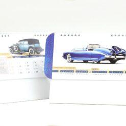 تقویم رومیزی سلفونی ماشین پایه سفید مدل 708