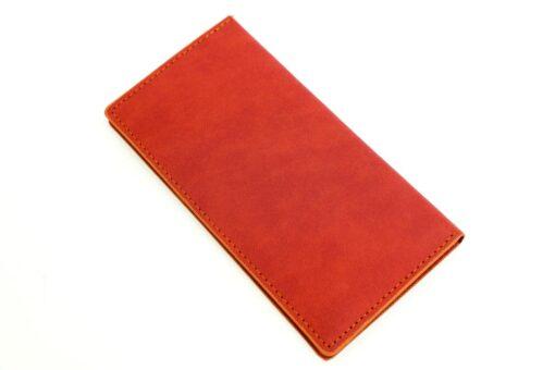 کیف پول تبلیغاتی رنگ آجری ساده مدل 715